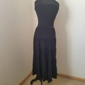 INC Convertible Black Layered Design Maxi Skirt